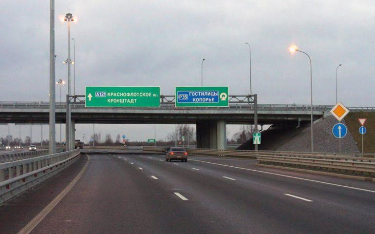 КАД развязка Гостилицкое шоссе
