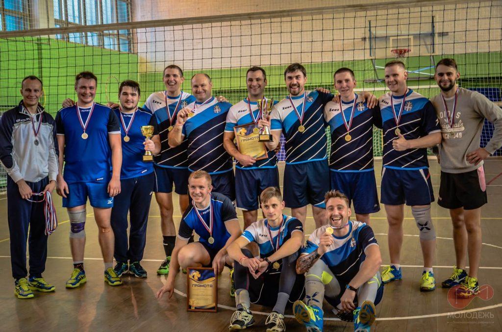 Волейбол сборная Низино чемпионы Ломоносовского района